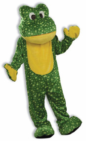 DELUXE PLUSH FROG MASCOT Front View