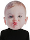 Become the center of attention with this amazingly photographically real looking kissing baby face. One size fits most adults. Giant masks are 13 in. x 18 in. and made of foam board.
