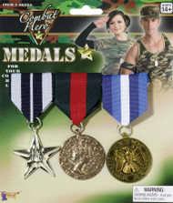 COMBAT HERO MEDALS  3 SET