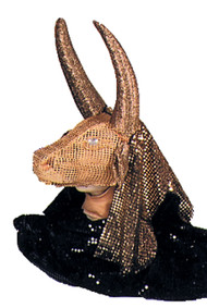 Check out this unique gold cow mask. Mask designed from Vara-Foam mesh. Easy to wear, lightweight, excellent visibility. Used by ballet companies worldwide!