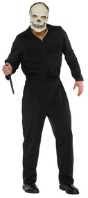 BOILER SUIT ADULT BLACK