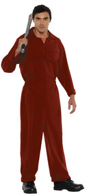 BOILER SUIT ADULT RED