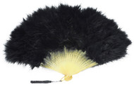 FAN MARABOU FEATHER BLACK
