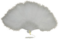 FAN MARABOU FEATHER WHITE