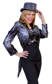 GLITTER TAILCOAT SILVER SMALL