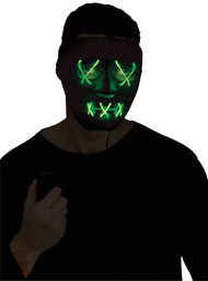 GREEN STRING ILLUMO MASK