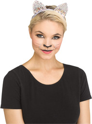GREY/JEWELED CAT EAR