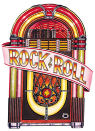 JUKEBOX CUTOUT DECORATION 36IN