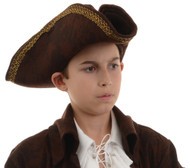 PIRATE CAPTAIN HAT CH BROWN