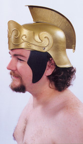 ROMAN HELMET GOLD W GOLD CREST