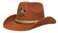 SHERIFF HAT ADULT BROWN