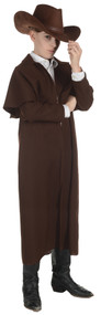WILD WEST DUSTER COAT CH BROWN Front View