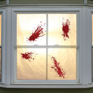 WINDOW CLING BLOODY SPLATS