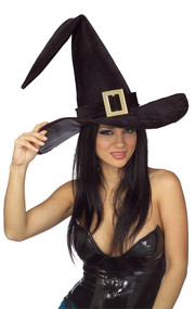 WITCH HAT ADULT BLACK