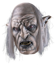 Lord of the Rings Orc Overseer Deluxe Over the Head Latex Mask with Hair