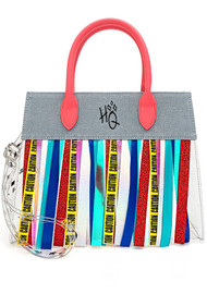 Loungefly DCCTB0014 Brids of Prey Harley Quinn Fringe Crossbody Bag - Front
