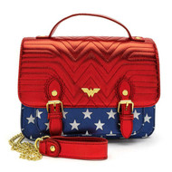 Loungefly DCCTB0010 Wonder Woman R/W/B Bag - Front