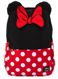 Loungefly Disney Minnie Mouse Cosplay Square School Book Bag Backpack WDBK0967 - Front