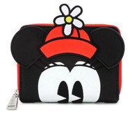 Loungefly WDWA1162 Minnie Dot Zip Wallet - Front