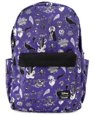 Loungefly WDBK1048  Disney Villian Icons AOP Backpack - Front