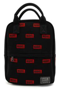Loungefly MVBK0099 Marvel Logo AOP Mini Backpack - Front