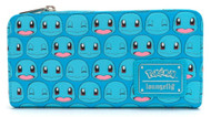 Loungefly PMWA0072 Pokemon Squirtle Faces Wallet - Front
