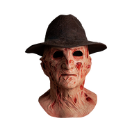 A NIGHTMARE ON ELM STREET 4: THE DREAM MASTER - DELUXE FREDDY KRUEGER MASK WITH FEDORA HAT front