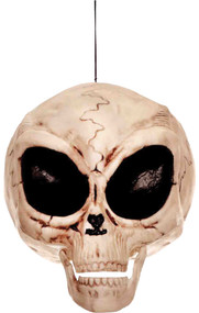 "6"" Plastic Alien Skull with moving jaw."