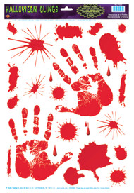 BLOODY HANDPRINT CLINGS