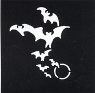 STENCIL BATS MOON STAINLESS