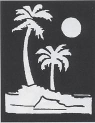 STENCIL PALM TREES BRASS
