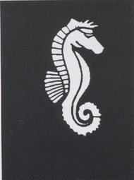 STENCIL SEAHORSE STAINLESS