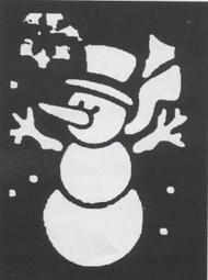 STENCIL SNOWMAN BRASS