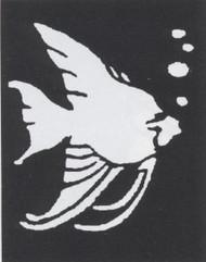 STENCIL TROPICAL FISH