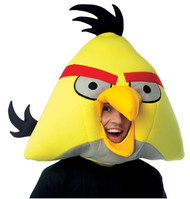 This mask will impress children and adults alike. Become your favorite Yellow Angry Bird from the popular game. Cloth mascot style mask.