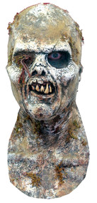 Fulci White Zombie Latex Halloween Mask with Moss