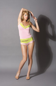 LACE TRIMMED CAMI PINK