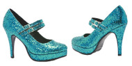 SHOE ALICE BLUE GLITTER