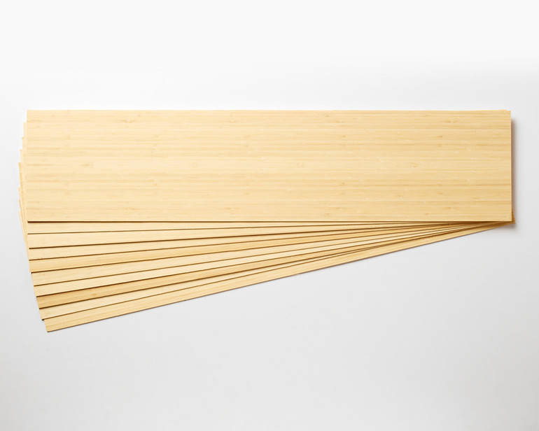 Bamboo is available in 10 or 20 packs, or add single sheets to a maple or birch longboard veneer order.