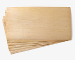 Great for wider projects like skim boards, wake skates, furniture and musical instruments.  Please note, we are unable to supply clear sheets (as shown in this picture). All sheets will be core grade which means there may be knots, stains and worm trails. We recommend using a fancy thinner veneer for your top sheet.
