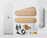 This kit is designed for teachers as it includes a mini-curriculum plus everything to make 2 double-concave 7-layer skateboards.