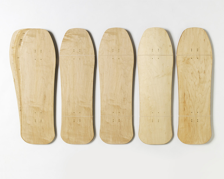 Five sets of Old School-shaped maple veneer 7-layer sets