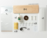 This Multi-Pack provides enough material for a group of 10 students to all build Multiboard longboards.