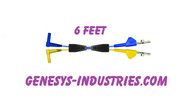 TEST LEADS FOR 3M DYNATEL 965DSP YELLOW / BLUE  965DSP-01-TX-6 80-6108-6436-7 1142