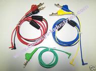 TEST LEADS FOR VIAVI JDSU ONX-580 OneExpert DSL CABLE KIT VV-ONX-DSL-2M-01-KIT CB-PAIR1-BON-GND HSTDVOM-BON-YW-BL VV-ONX-DSL-2M-01-RB, VV-ONX-DSL-2M-01-YB, VV-ONX-DSL-2M-01-G