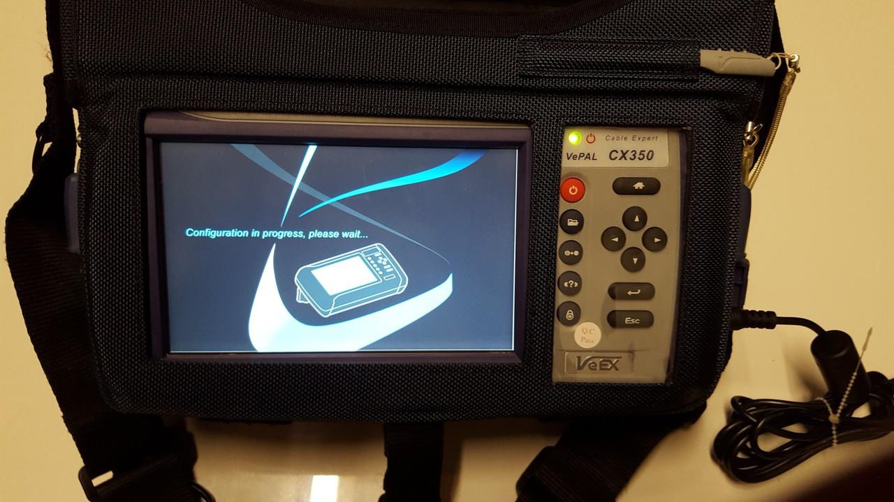VeEX Vepal CX350 CATV Meter Docsis 3 0 D3 8x4 Bonding Triple Play DSAM VOIP  CABLE EXPERT