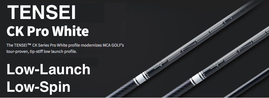 Mitsubishi Tensei CK Pro White: Low-Launch & Low-Spin Custom Golf Shaft  FREE Factory Adapter Tip!!!