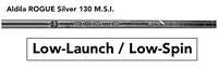 Aldila Rogue Silver 130 MSI Tour: Low-Launch & Low-Spin Custom Golf Shaft FREE Factory Adapter Tip!!!