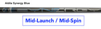 Aldila Synergy Blue: Mid-Launch & Low-Spin Custom Golf Shaft FREE Factory Adapter Tip!!!
