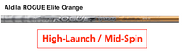 Aldila Rogue Elite Orange: High-Launch & Mid-Spin Custom Golf Shaft FREE Factory Adapter Tip!!!